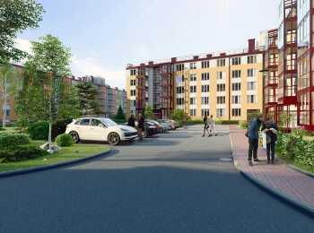 Внешний вид фасадов жилого комплекса Образцовый квартал 6